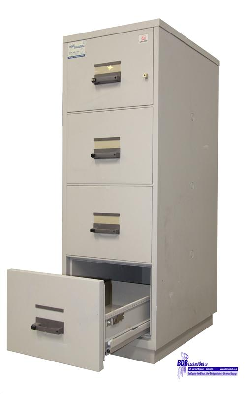 Chubb 4 Drawer Fire Filing Cabinet | Fireproof Safe