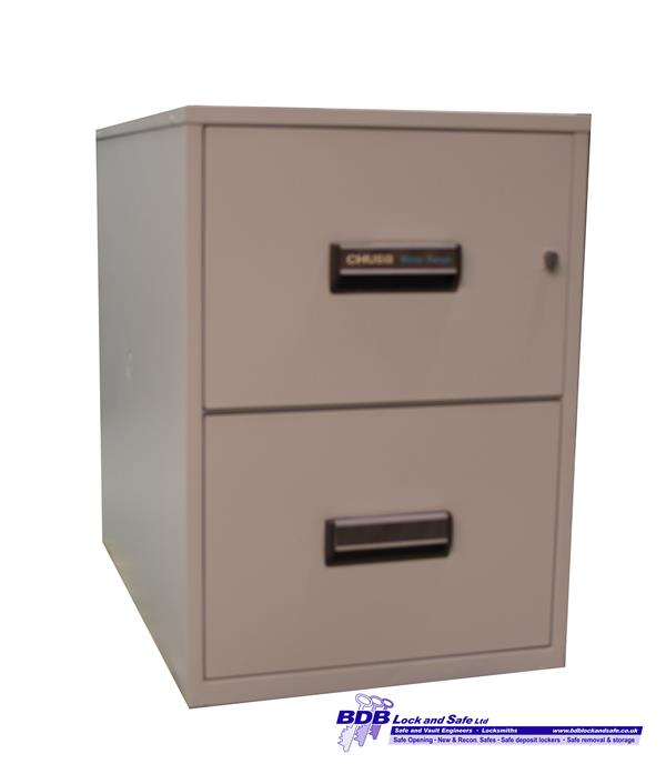 chubb milner range 2 drawer fire filing cabint. Black Bedroom Furniture Sets. Home Design Ideas